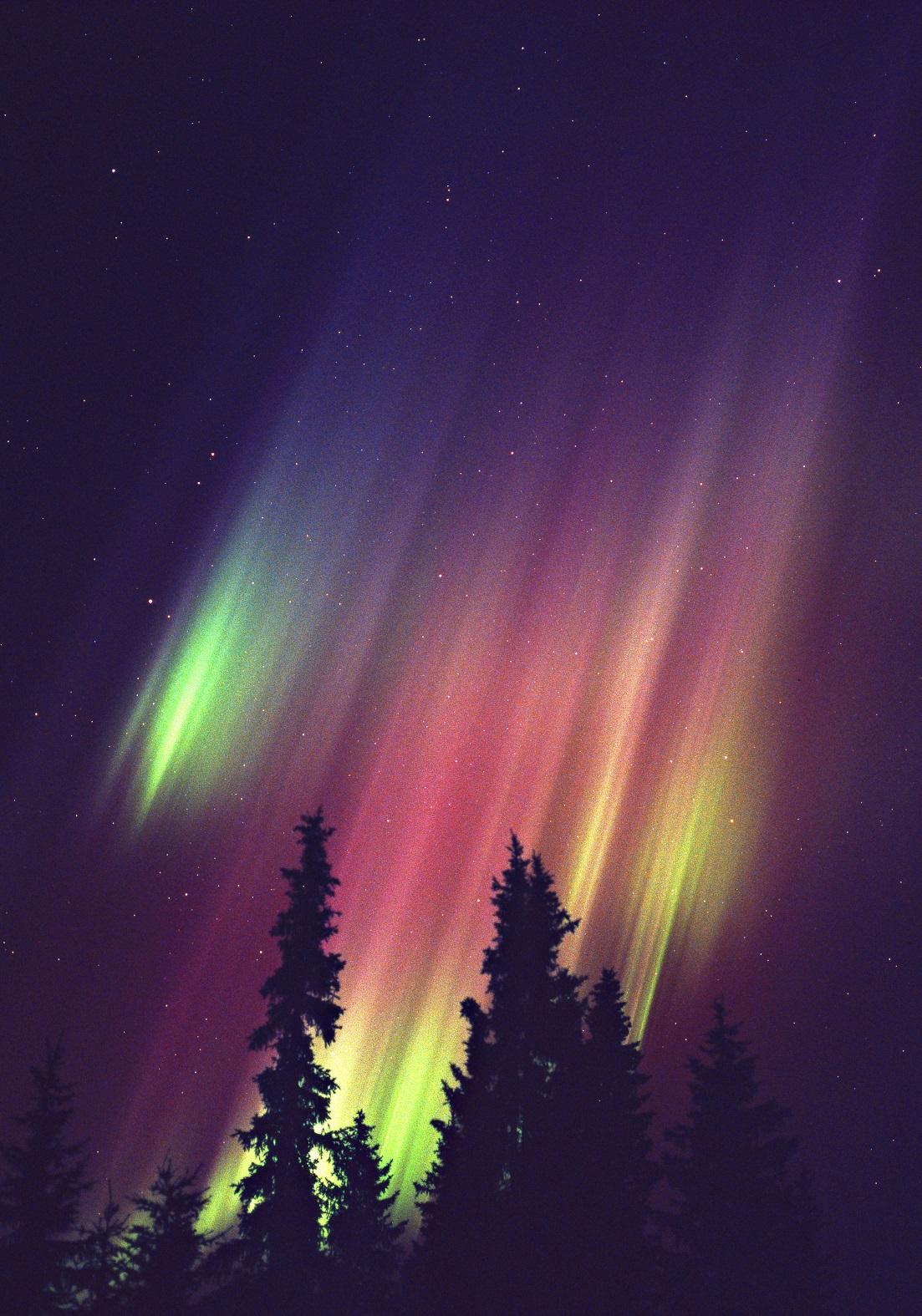 Rare Red Aurora in Finnish Lapland