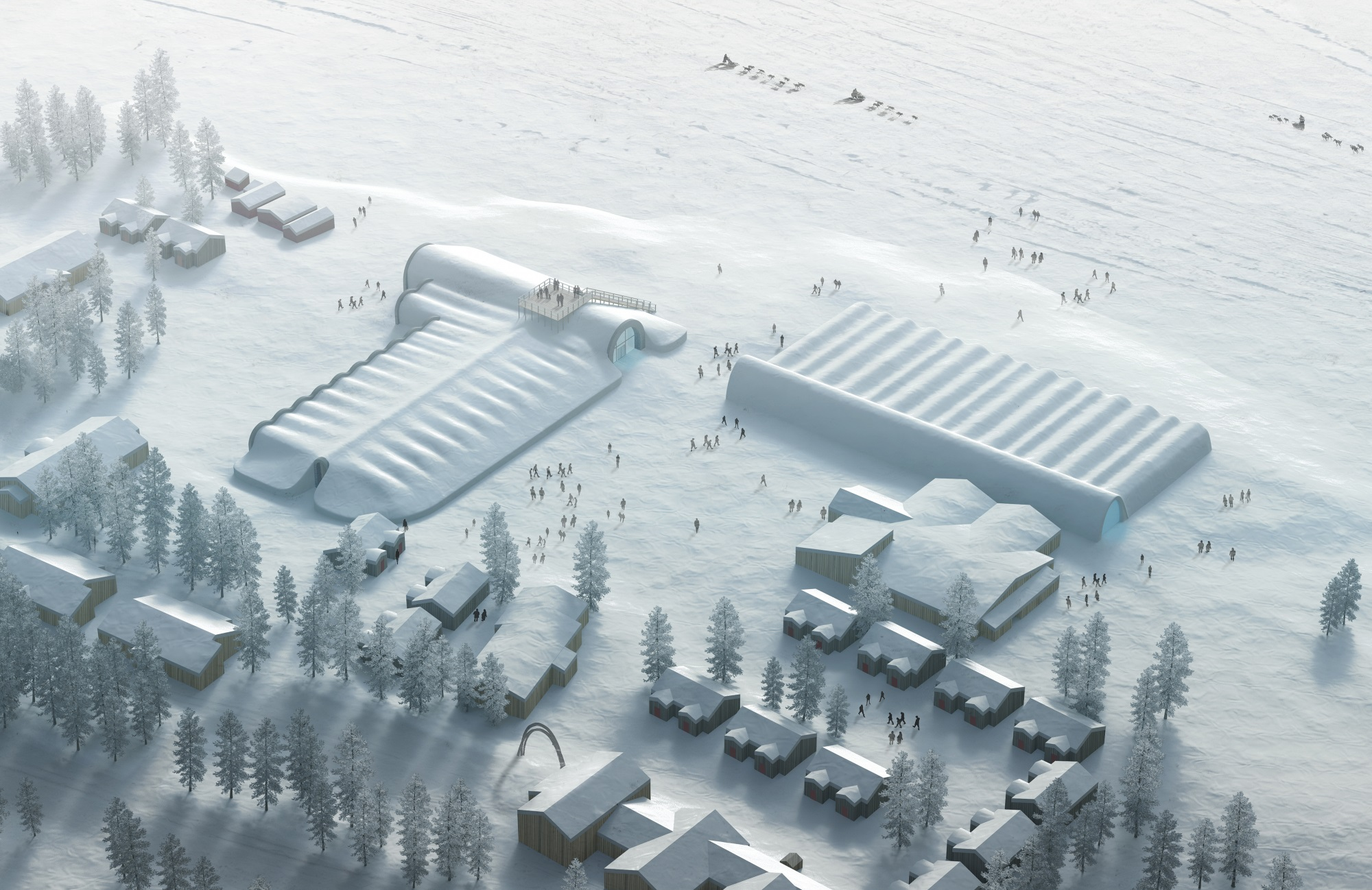 ICEHOTEL 365 Winter. Illustration by PinPin Studio