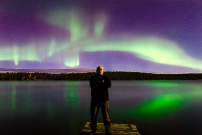 Markku under northern lights