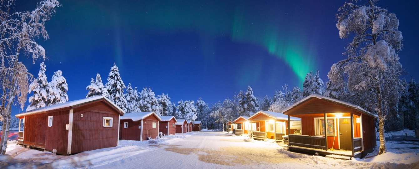 Log cabin holiday and winter cottages in lapland