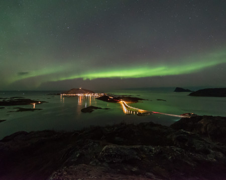 Autumn Northern Lights On Sommaroy Norway