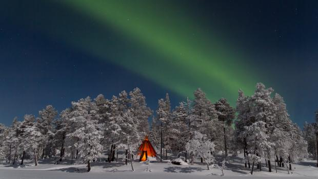 Inari - Aurora in the Sámi Heartlands at New Year
