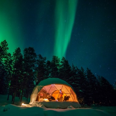 Spend a night in an Aurora Dome